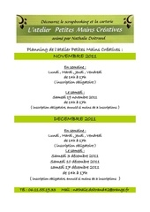 planning atelier petites mains creatives