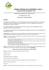 reglement de copropriete de la residence olfa vers1 0