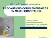 2 10 s1 les precautions complementaires en milieur hospitalier