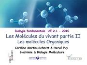 cours 2 ifsi 2010 les molecules du vivant organiques