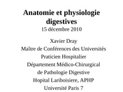 cours ifsi anatomie et physiologie digestives x dray 1