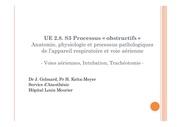 cours ifsi anatomie physiologie et processus pathologiques de l appareil respiratoire et voie aerienne voies aeriennes intubation tracheotomie