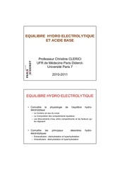cours ifsi equilibre hydroelectrolytique et acide base s1 2 2 2010 clerici