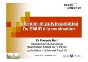 cours ifsi infirmiers et polytraumatise du smur a la reanimation bart