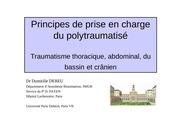 cours ifsi principes de prise en charge du polytraumatises