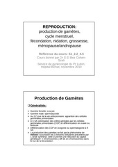 cours ifsi reproduction production de gametes 2 2 s1