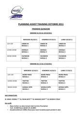 planning formation assist training octobre 11