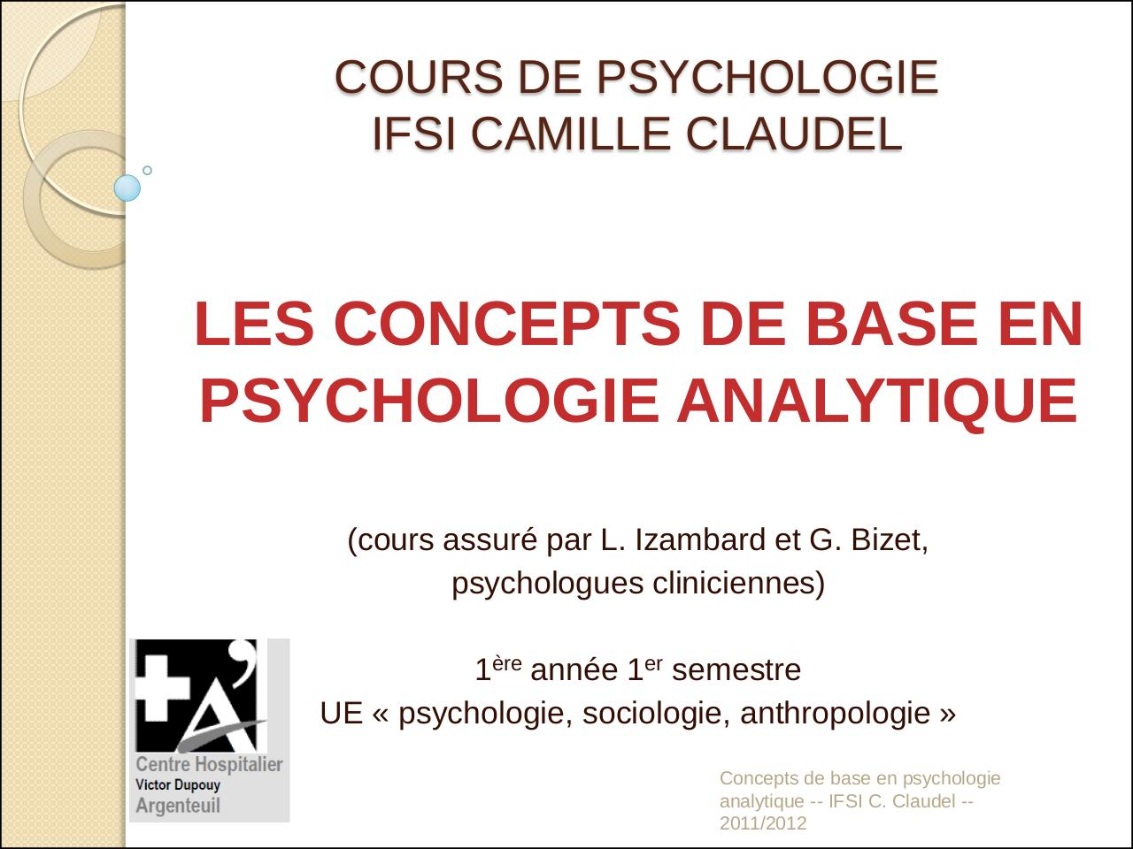 Aperçu du document UE 1.1.S1 Psychologie Analytique.pdf - page 1/25