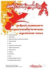 reglement scooterpower 2011