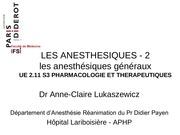 ue 2 11 s3 les anesthesiques lukaszewicz 2 a generaux