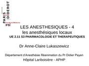 ue 2 11 s3 les anesthesiques lukaszewicz 4 a locaux