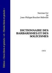 dictionnaire des barbarismes et des solecismes 1