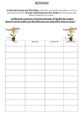 petition signatures cantine