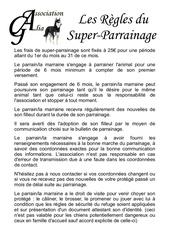super parrainage regles 1