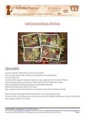 tutoriel couronne de noel par lolocreascrap pour infinimentscrap challenge special novembre 2011
