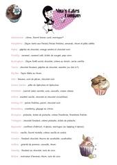 nina s cakes company carte 1