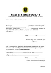stage de football u12
