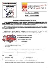 manifestation du 3 novembre paris