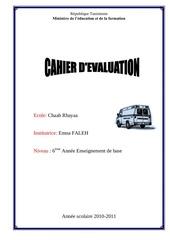 evaluation 4eme