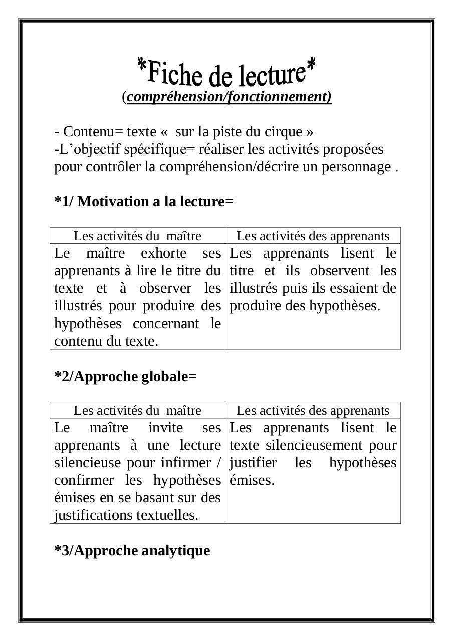 Fiche de lecture par Ecole p-Chot Awamer - Fichier PDF