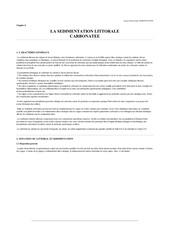 geologie la sedimentation littorale carbonatee chapitre 8