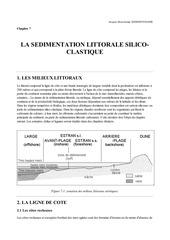 geologie la sedimentation littorale silico clastique chapitre 7