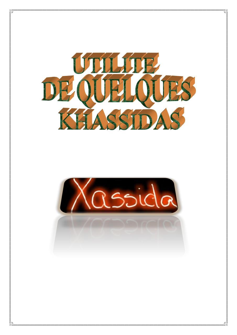 KHASSIDA EN FRANCAIS PDF TÉLÉCHARGER