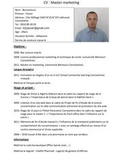 Fichier PDF cv master marketing