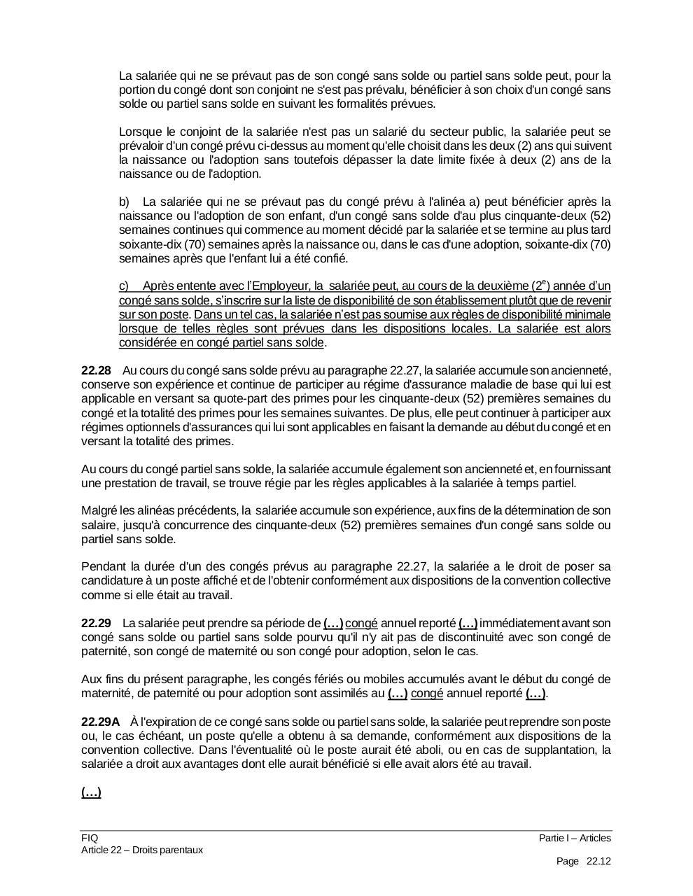 Convention Intervenue Entre Le Cpnsss Et La Fiq Version