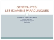 ue 2 2 s1 les examens paracliniques