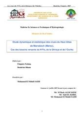 etude dynamique et statistique des crues du haut atlas de marrakech cas des bassins versants du n fis de la ghiraya et de l ourika
