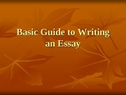 Fichier PDF basic guide to writing an essay 1