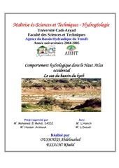 comportement hydrologique dans le haut atlas occidental le cas du bassin du ksob