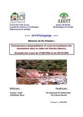 consequences geographiques et socio economiques des inondations dans la vallee de l ourika