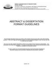 dissertation format guidelines