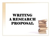 elaborating scholar proposal