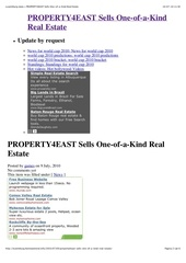 Luxemburg news » PROPERTY4EAST Sells One-of-a-Kind Real Estate.pdf - page 2/6