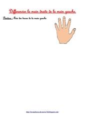 peinture fais des traces de ta main gauche