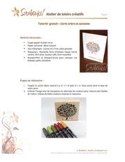 tutoriel carte arbre automne