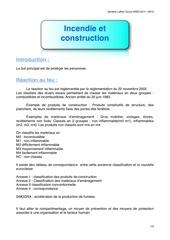 incendie et construction