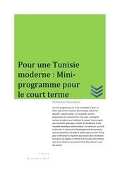 pour une tunisie moderne un mini programme pour le court terme v1 02 1