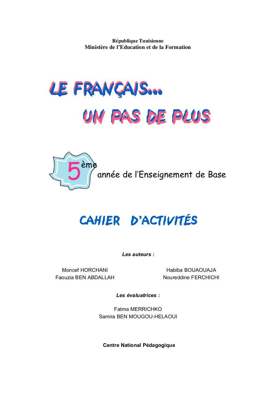 Cahier D Activites Fr5e Fichier Pdf