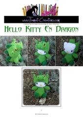 hello kitty deguisee en dragon