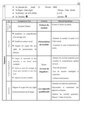 journal de classe 5e mod6