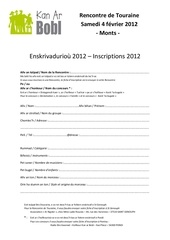 fiche d inscription 2012