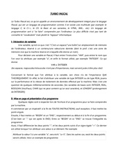 Fichier PDF langage pascal