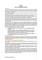 nc01 la norme comptable generale plan comptable