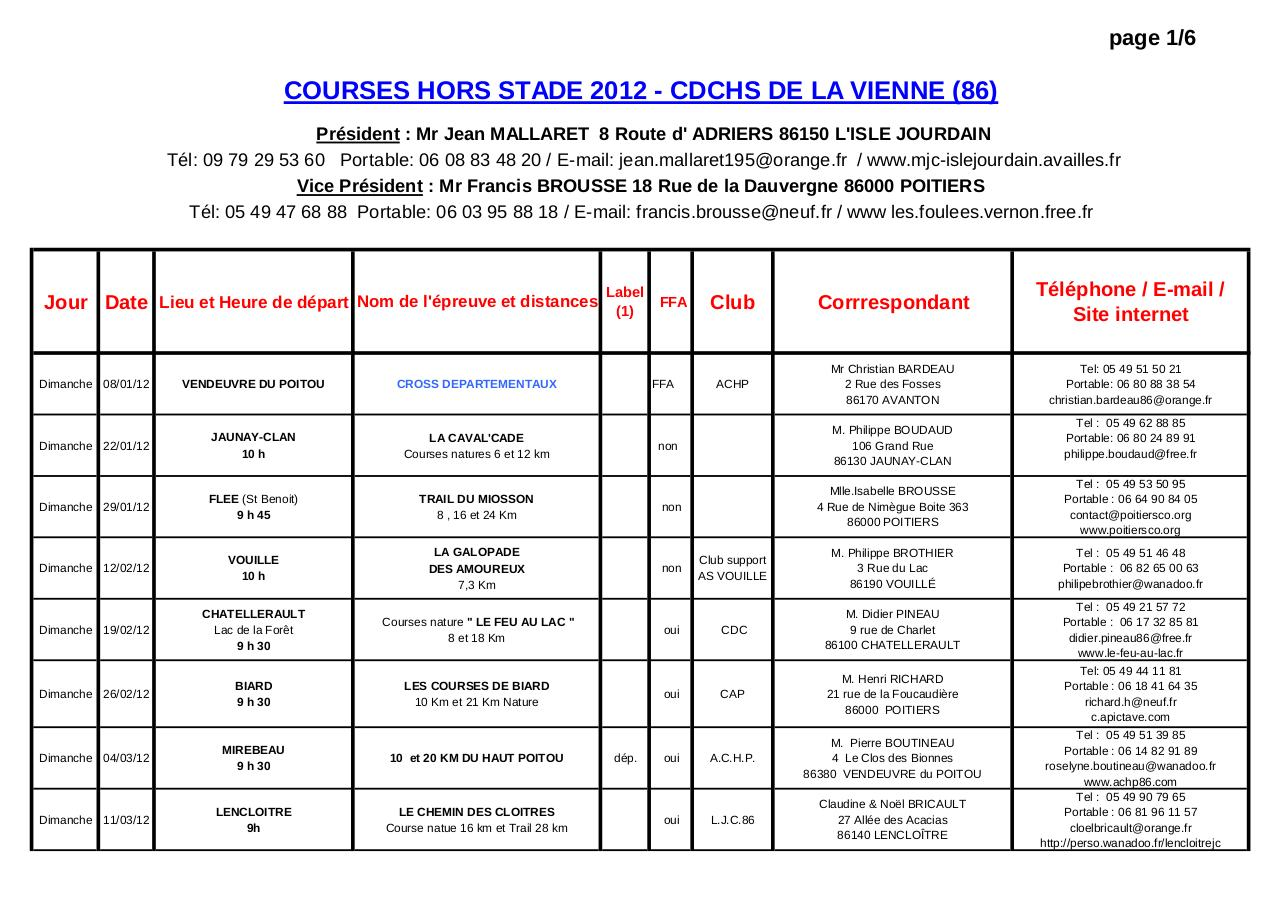 Aperçu du document Calendrier Courses 2012 CDCHS-2- .pdf - page 1/6