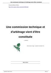 commission technique et d arbitrage