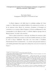 linterpretation de l article 1er de la constitution tunisienne
